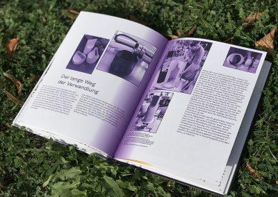 Produktionsseiten in violett